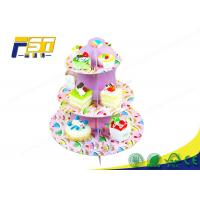 Buy cheap CMYK Printing Pop Design Cardboard Tiered Cake Stand Durable For Shopping Mall from wholesalers