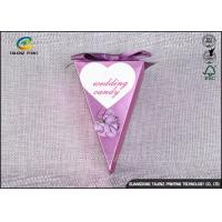 Buy cheap Small Purple Decorative Gift Boxes , Chocolate Candy Boxes Triangle Shaped from wholesalers