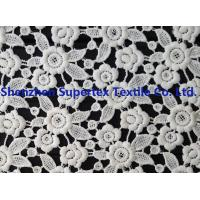 Buy cheap White Polyester Children'S Clothing Fabric Water Soluble Embroidery Lace for Dresses or Decoration from wholesalers