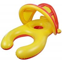 Buy cheap Inflatable Baby Swimming Ring With Sun Shade Canopy / Bucket Seat 38*24*22 from wholesalers