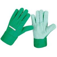 Buy cheap Cotton drill with PVC dots garden gloves from wholesalers