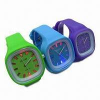 Buy cheap Glowing Silicone Wrist Watches, LED Watch Dial, OEM Orders and Designs Welcomed product