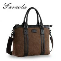 Buy cheap 2014 new brand design canvas men bag with leather trim from wholesalers