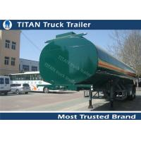 Buy cheap Q235B carbon steel Small capacity fuel tanker semi trailer for edible oil transportation from wholesalers