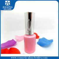 Buy cheap Customized Cute Pink Nail Polish Bottle With Silver Cap And Brush Eco-friendly from wholesalers
