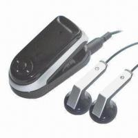 Buy cheap Bluetooth Earphone Hidden Mini DVR Camera, 640x480p at 30fps with 4-16GB Build-in Memory, MP3 Player from wholesalers