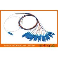China 0.9mm Steel Tube Fiber Optic PLC Splitter 1X16 G657A1 1.5m 0.9mm With SC UPC Connector on sale