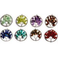 Buy cheap Personalized Gemstone Beaded Jewelry , Cool Tree Of Life Gemstone Pendant from wholesalers