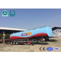 Buy cheap Carbon Steel Tri - Axle Semi Trailer For Fuel Transport 30000 To 60000 Liters product