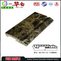 Buy cheap 120mm Cheap Decorative Board 3d pvc wall panels designs floor skirting board from wholesalers