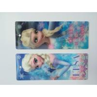 Buy cheap 3D Hologram Frozen 3D Lenticular Custom Plastic Bookmarks With Tassel For 0.6 mm product