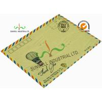 Buy cheap Standard Size Kraft Paper Custom Printed Envelopes With UPC Barcode Printing Edge from wholesalers