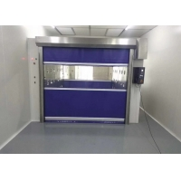 Buy cheap Automatic Control Fast Rolling Up Door Air Shower Booth Soft Curtain Gate from wholesalers