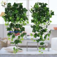 Buy cheap UVG interior decoration 1 meter green hanging faux ivy with plastic vine leaves for sale CHP01 from wholesalers
