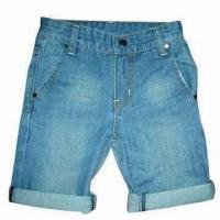 Buy cheap Boy's Denim Shorts with Double Folded Hem from wholesalers