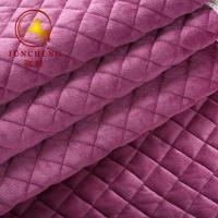 Buy cheap 2018 New arrival high quality quilted velvet fabric for sofa and sofa cover from wholesalers