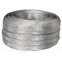 Buy cheap Electrical / Industrial Tinned Copper Braided Sleeving , Flat Cable Shielding Sleeve 600V from wholesalers