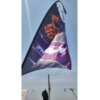 Buy cheap custom printed teardrop flags, feather flags, polyester fabric beach flags from wholesalers