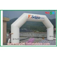 Buy cheap White 6 x 3M Inflatable Arch , Inflatable PVC Advertising Hotel Arch from wholesalers