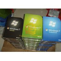 Buy cheap English DVD Microsoft Windows 7 Upgrade , Win 7 Pro 32 64 Bit Full Retail Version from wholesalers