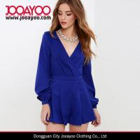 Buy cheap 2016 Spring / Summer Jumpsuit for Women V-neck Royal Blue Long Sleeve Romper from wholesalers