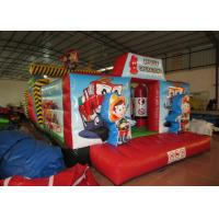 Buy cheap Inflatable Rescue Fire Truck Bouncy Castle Obstacle Course , Obstacle Course Jump House from wholesalers