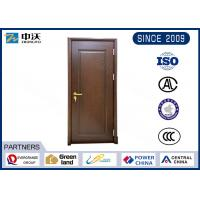 Buy cheap Baking Red Paint Fire Resistant Wooden Doors With 1.5 hours Fire Rating from wholesalers