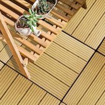 Buy cheap DIY Outdoor WPC Decking floor Tile wood composite decking   good strength DIY decking from wholesalers