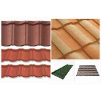 Buy cheap Soundproof Double Roman Roof Tiles , european Stone Coated Metal / Steel Roofing Tiles from wholesalers