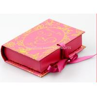 Buy cheap Book Style Branded Gift Boxes Pink Color Customize paper Unique Socks Packaging from wholesalers
