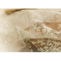 Buy cheap Delicate 130CM Floral Embroidered Nylon Lace Fabric For Underwear Nightwear product