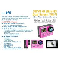 Buy cheap Factory price newest camcorder HD Sony sensor 4k camera H8 remote control sports digi cam from wholesalers