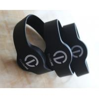 NTAG213 NFC Silicone Wristband , Black RFID Printed Silicone Wristbands