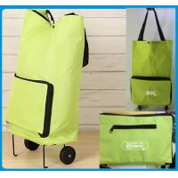 Buy cheap Lightweight Foldable Shopping Trolley Bag with handles and Plastic wheels - Low Price For Promotional Marketing from wholesalers