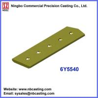 Buy cheap Cater Pillar dozer spares cutting edges 6Y5540 from wholesalers