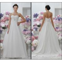 Buy cheap Stunning Satin Strapless White Simple Elegant Wedding Dresses Ball Gown from wholesalers
