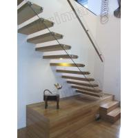 Buy cheap stainless steel handrails wood staircase floating stairs from wholesalers