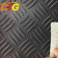 Buy cheap White Non - Woven Backing PVC Artificial Leather 120cm Width 1.8mm Thickness product