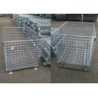 Buy cheap Heavy Duty Mesh Storage Cage Folding Wire Cage High Efficiency Simple Operation from wholesalers