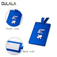 Buy cheap Custom soft PVC Travel Luggage Tag Cartoon Silicone Luggage Name Tag with plastic Buckle from wholesalers