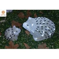Buy cheap 3D Acrylic Hedgehog LED White Lights Particle Handmade Finished Christmas Holiday Lighting from wholesalers