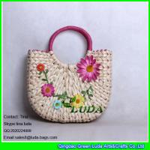 Buy cheap LUDA flower straw handbag handmade cornhusk straw hobo handbag from wholesalers