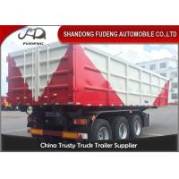 Buy cheap 50 Tons Square Shape Semi Dump Truck Customized Transport Heavy Stone from wholesalers