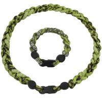 Buy cheap Weave titanium sports necklace from wholesalers