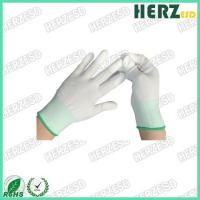 Buy cheap Breathable ESD Hand Gloves Knitted Nylon Material With PU Coated Finger Tip from wholesalers
