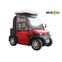 Buy cheap Four Wheel Electric Mini Car Double Seats Motor Power 3KW 60V 120AH from wholesalers