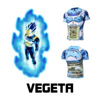 Buy cheap Cosplay Vegeta Cartoon T Shirt / Casual Anime Game Men Workout Tops from wholesalers