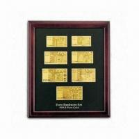 Buy cheap 24K Gold Foil Bank Note in Wooden Frame, Can be Hanged on Wall or Put on Desk from wholesalers