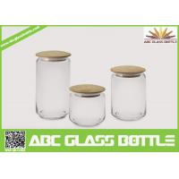 Buy cheap Hot sales glass spice jars with wood lid product