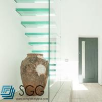 Buy cheap clear laminated glass stair treads 6+6mm 8+8mm 10+10mm from wholesalers